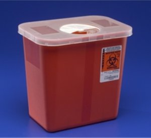 Multi-Purpose Sharps Container with Rotor Opening Lid