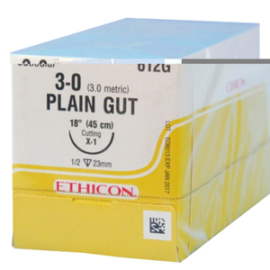 Reverse Cutting Plain Gut Absorbable Sutures by Ethicon