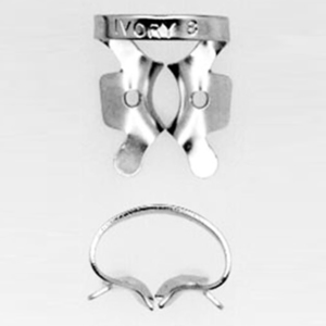 Ivory Stainless Steel Clamp, Bicuspid Winged, Size 8