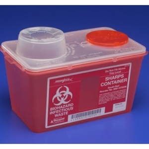 Sharps-A-Gator™ Sharps Container, Chimney Top, 4 qt