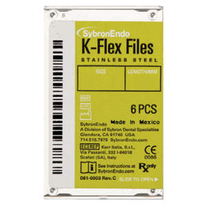 SybronEndo K-Flex Files Stainless Steel, 25 mm