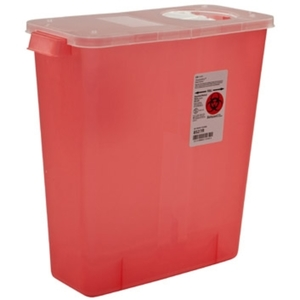Multi-Purpose Sharps Container with Rotor & Hinged Lid
