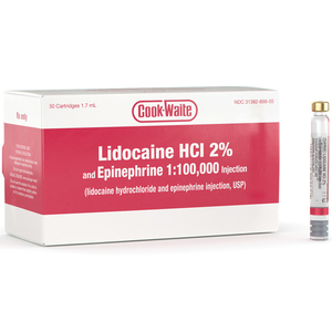 Lidocaine HCl 2% and Epinephrine 1:100,000