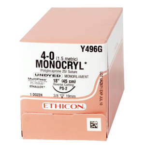 Precision Point Monocryl Synthetic Absorbable Sutures by Ethicon