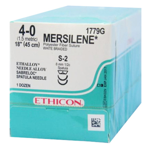 Sabreloc Spatula Mersilene Non-Absorbable Sutures by Ethicon