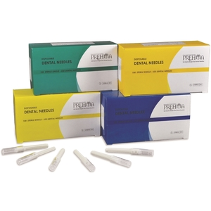 Prehma Disposable Dental Needles, 30 gauge