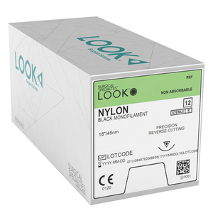 LOOK Precision Reverse Cutting Non-Absorbable Sutures, Nylon