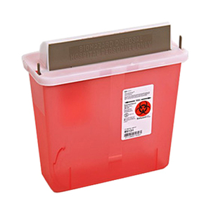 SharpSafety In-Room Sharps Container with Mailbox-Style Lid