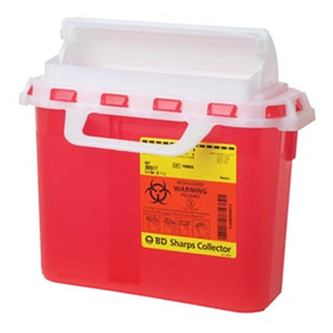 Multi-Use One-Piece Sharps Container with Counterbalanced Door