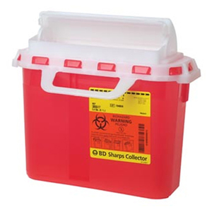 Multi-Use One-Piece Next generation Patient/Exam Room Sharps Container