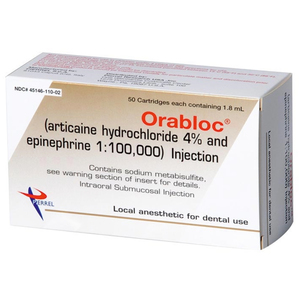 Orabloc 1:100,000 Articaine HCI 4% and Epinephrine Injection