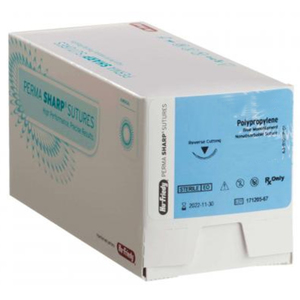 Perma SharpOB Non-Absorbable Sutures, Blue Polypropylene