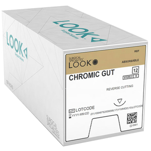 LOOK Taper Point Absorbable Sutures, Chromic Gut