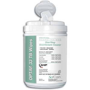OPTIM 33TB One-Step Disinfectant Cleaner Wipes