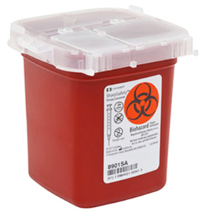 SharpSafety™ Sharps Container Phlebotomy, 1 pt