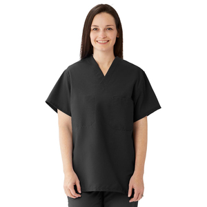 ComfortEase Unisex Two Pocket Reversible Scrub Top