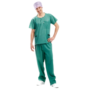 BARRIER Extra Comfort Green Scrub Drawstring Pants