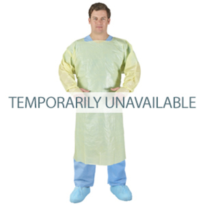 Over-The-Head Poly-Coated Fluid Resistant Gowns