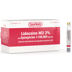 Cook-Waite Lidocaine HCl 2% with Epinephrine 1:100,000