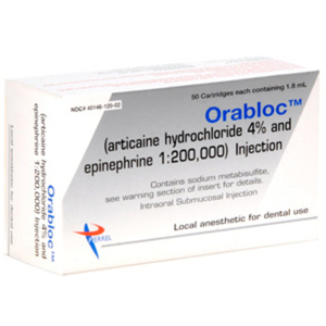 Orabloc 1:200,000 Articaine HCI 4% and Epinephrine Injection