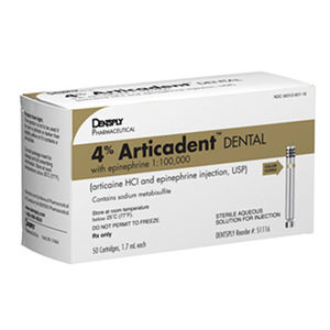Articadent DENTAL Injection Articaine HCI 4% and Epinephrine